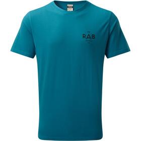 Rab Stance Geo T-shirt Heren, azure